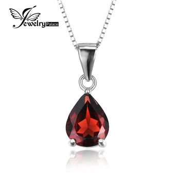 Water Drop 2.2ct Natural stone Alluring Red Garnet 925 Sterling Silver Pendants For Women Fashion Party Fine Jewelry 201 New