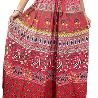 Boho Skirt Red Cotton Long Maxi Skirts Beach Holiday Savvy Chic Free Spirit