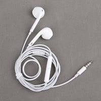 ZTEK White High Quality Earphones Earbuds EarPods 3.5mm with Remote and Mic for the iOS Devices and Android Devices - compatible with Apple iPhone 5S 5C 5 4S 4 3 iPad Air mini2 mini 4 3 2 iPod Touch 5th iPod Nano 7th