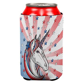 4th of July Freedom is Magical Unicorn All Over Can Cooler