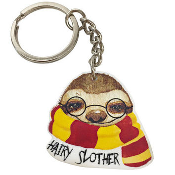 Hairy Slother Keychain