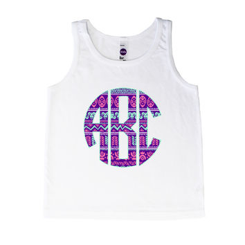 Monogram Purple Tribal - Tank