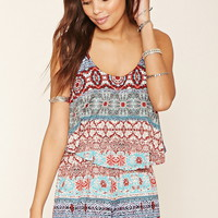 Abstract Flounce Romper