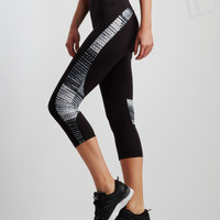 LLD Printed Inset Crop Leggings