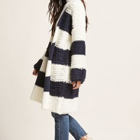Boucle Knit Stripe Sweater