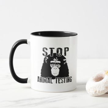 Stop Animal Testing - Chimpanzee Mug