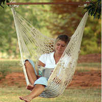 Deluxe Cotton Rope Swing Chair by Captains Line - Single Swings - Hammock Swings - HammockCompany