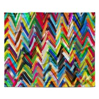 "Frederic Levy-Hadida ""Chevrons"" Rainbow Fleece Throw Blanket"