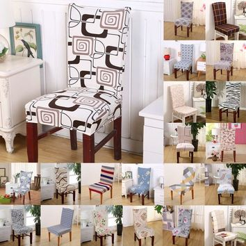 1pcs Flower Plaids Stretch Home Decor Dining Chair Cover Spandex Decoration covering Office Banquet Hotel chair Covers 43008