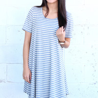 Feeling Fine Striped Dress {H. Grey}