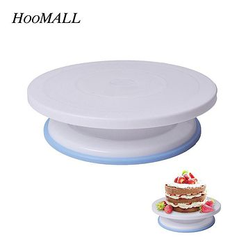 Hoomall Plastic Cake Rotary Table DIY Baking Tool Cake Stand Cake Turntable Rotating Cake Decorating Baking Tool 7*28Cm 10 Inch