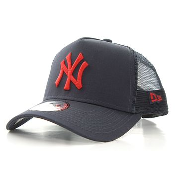 New Era MLB League Essential Trucker NY Yankees A-Frame Cap Navy Red One Size
