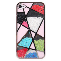 waloli shopping mall — Fashion Colourful Sliding Polygon Mirror Hard Cover Case For Iphone 4/4s/5