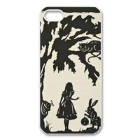 Alice in Wonderland iPhone 5 Case Black and White iPhone 5 Case