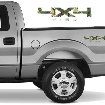 4X4 F150 Bedside Forest Camo Decal Fit Ford Trucks 2008-2017 F150-250 SUPER DUTY