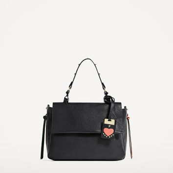LEATHER CITY BAG WITH INTERCHANGEABLE HANDLE - View all-BAGS-WOMAN | ZARA United States