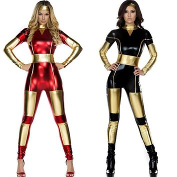 2017 Sexy Women Super Hero Bodysuits Spandex Superhero Zentai Suit Adult Halloween Catsuit Jumpsuit Party Performance Costumes