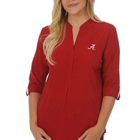 Alabama Crimson Tide Women's Button Down Tunic | BAMA Classic Tunic | Alabama Crimson Tide Classic Tunic Top