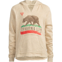 Billabong Cali Bear Girls Hoodie Oatmeal  In Sizes