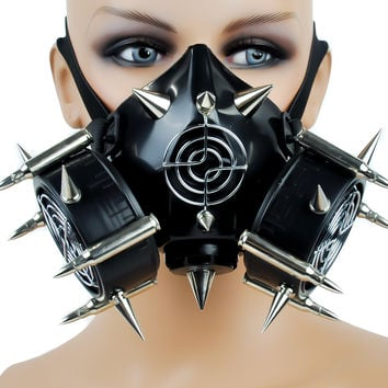 Industrial Bullet Spike Gas Mask w/ Dual Respirator