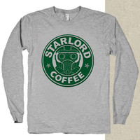 star lord coffee t-shirt long sleeves happy feed