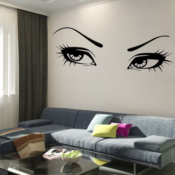 Wall Vinyl Decal Sexy Beautiful Girls Woman Eyes Decor Unique Gift z3754