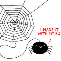 Spiders Have all the Fun Art Print by Gemma Correll | Society6