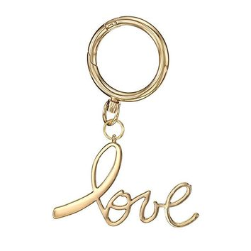 Pink Hope Love Bag Charm