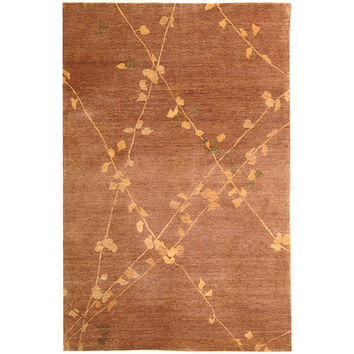 MARTHA STEWART RUGS MSR5536B-6 Trellis Blue and Quartz Rectangular: 5 Ft. 6 In. x 8 Ft. 6 In. Rug