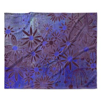 "Marianna Tankelevich ""Purple Night"" Purple Blue Fleece Throw Blanket"