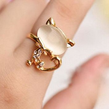 ONETOW Cute little cat ring