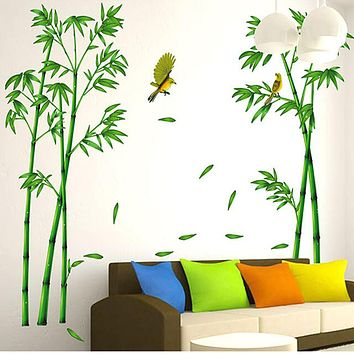 Deep Bamboo Forest 3D Wall Stickers Home Decor