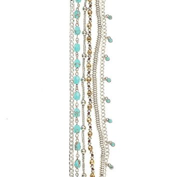 Lucky Brand Lucky Layers Bracelet Womens - Blue/Multicolor (One Size)