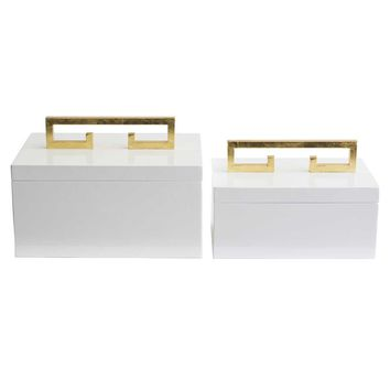 Couture Avondale Boxes (Set of 2) - White | New Decor | What's New! | Candelabra, Inc.