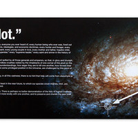 You Are Here Print with Carl Sagan Quote