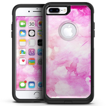 Pink v4 Absorbed Watercolor Texture - iPhone 7 or 7 Plus Commuter Case Skin Kit