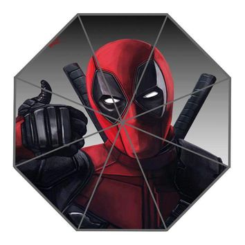Deadpool Dead pool Taco Nice  Custom Sunny and Rainy Umbrella Design Portable Fashion Stylish Useful Umbrellas Good Gift AT_70_6