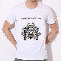 Newest suicide squad character printing T shirt Funny Sexy quinn/joker and harley tee shirt Men's Cool Tee Tops Clothes W27-5#