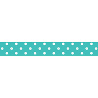 Kaisercraft: Peacock Blue with White Polka Dots Paper Washi Tape; 5m by 15mm