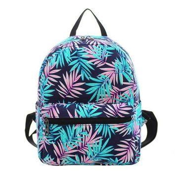 Women Canvas Shoulder Bag Printing Bag School Backpack Rucksack For Teenage Girls Mini Backpack mochila feminina