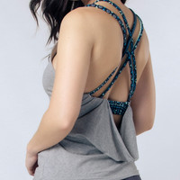 Seree Gray Racerback Yoga Shirt