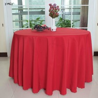 Solid Color Luxry Round/Rectangle Table Covers polyester Table Cloths hotel home Wedding Baby Shower Party Decoration Tablecloth