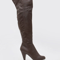 Roscoe Over the Knee Boots - Brown