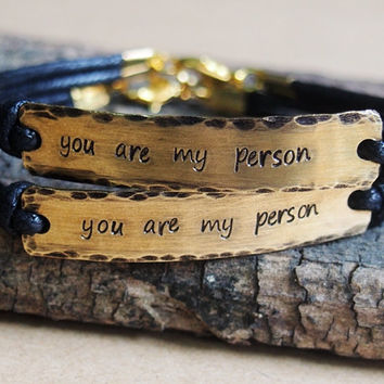 Matching Couples bracelet, Matching Couples Jewelry, couples bracelet, you re my person bracelet, Personalized bracelet, matching couple