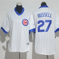 Women's Chicago Cubs #27  Addison Russell Cooperstown Cool Base Player Jersey