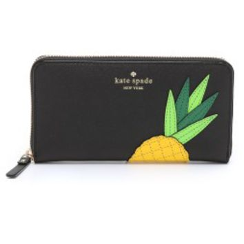 Lacey Pineapple Zip Around Wallet