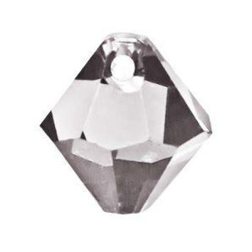 Swarovski 6mm Top Drill Bicone - Crystal Satin (10 Pack)