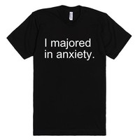 I Majored In Anxiety. | Fitted T-Shirt | SKREENED