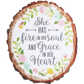 Fire In Her Soul Wood Wall Decor | Hobby Lobby | 1604610