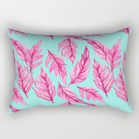 Fuchsia Leaves Rectangular Pillow by Lisa Argyropoulos | Society6